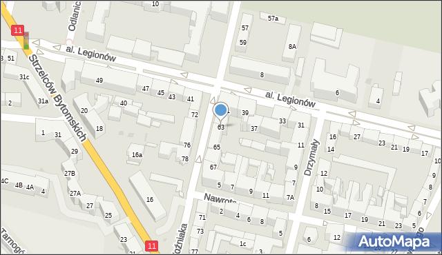 Bytom, Woźniaka Piotra, 63, mapa Bytomia