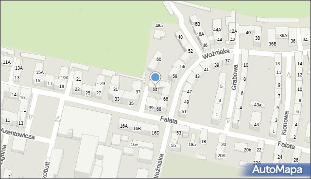 Bytom, Woźniaka Piotra, 64, mapa Bytomia