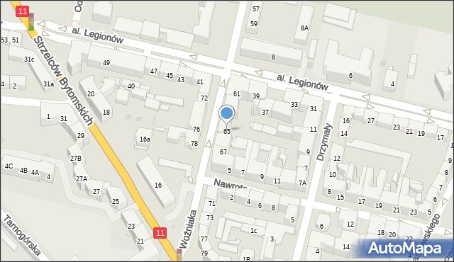 Bytom, Woźniaka Piotra, 65, mapa Bytomia