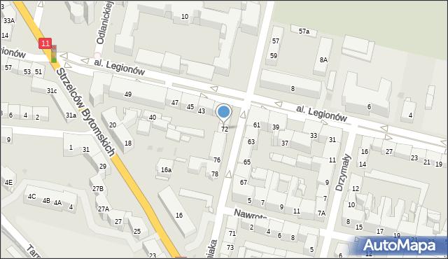 Bytom, Woźniaka Piotra, 72, mapa Bytomia