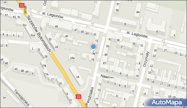 Bytom, Woźniaka Piotra, 76, mapa Bytomia