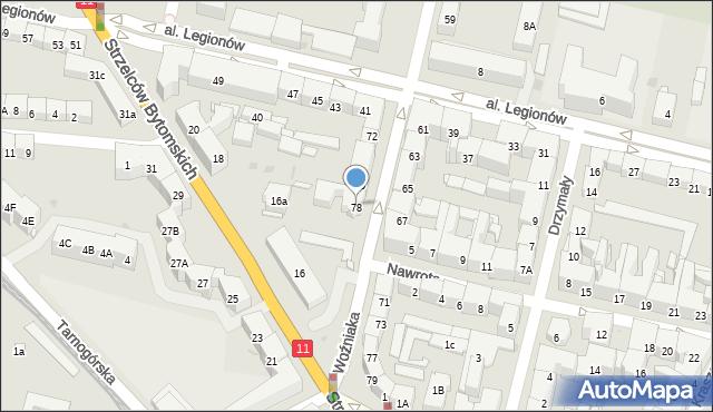 Bytom, Woźniaka Piotra, 78, mapa Bytomia