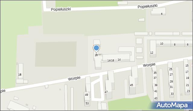 Bytom, Worpie, 16, mapa Bytomia