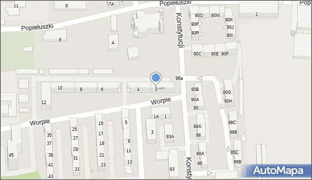 Bytom, Worpie, 2, mapa Bytomia