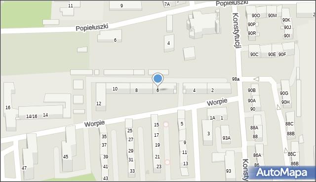 Bytom, Worpie, 6, mapa Bytomia