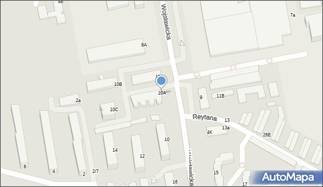 Chełm, Wojsławicka, 10A, mapa Chełma