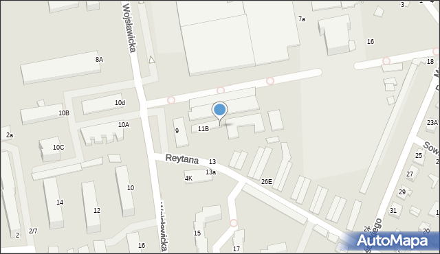 Chełm, Wojsławicka, 11a, mapa Chełma