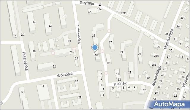 Chełm, Wojsławicka, 15A, mapa Chełma