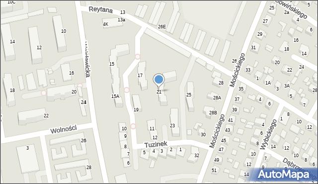 Chełm, Wojsławicka, 21, mapa Chełma