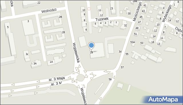 Chełm, Wojsławicka, 29, mapa Chełma