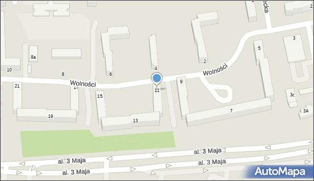 Chełm, Wolności, 11, mapa Chełma