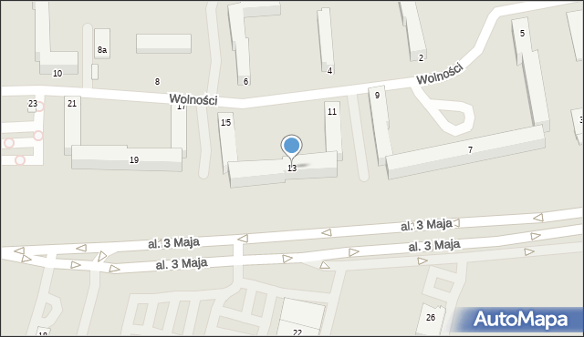 Chełm, Wolności, 13, mapa Chełma