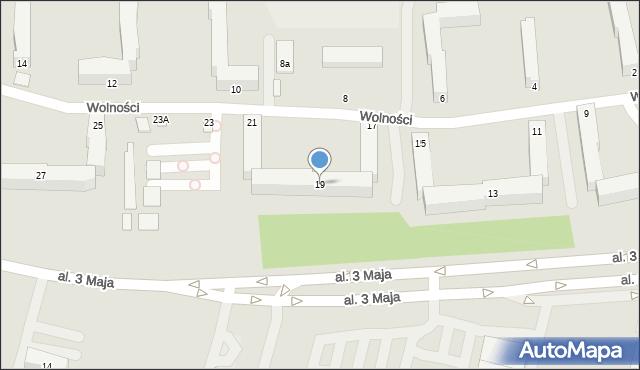 Chełm, Wolności, 19, mapa Chełma