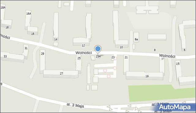 Chełm, Wolności, 23A, mapa Chełma