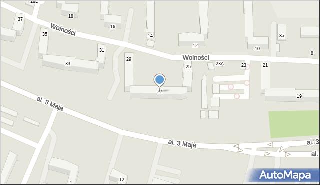 Chełm, Wolności, 27, mapa Chełma
