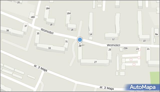Chełm, Wolności, 29, mapa Chełma
