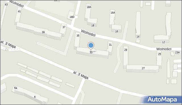 Chełm, Wolności, 33, mapa Chełma