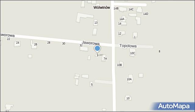 Chełm, Wolwinów, 7, mapa Chełma