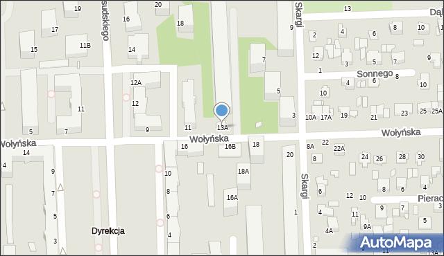 Chełm, Wołyńska, 13A, mapa Chełma