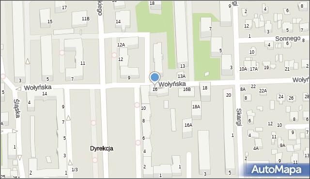 Chełm, Wołyńska, 16, mapa Chełma