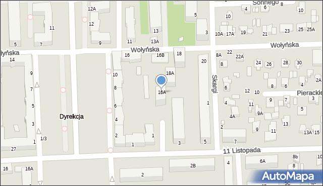 Chełm, Wołyńska, 16A, mapa Chełma