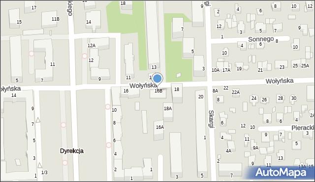Chełm, Wołyńska, 16B, mapa Chełma