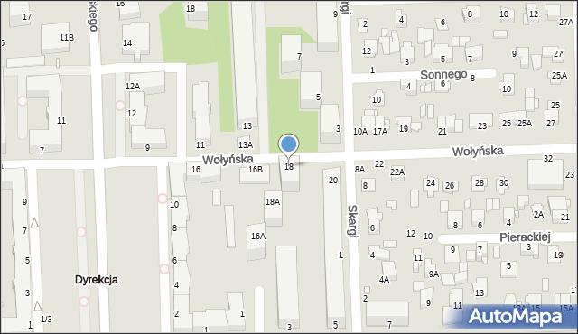 Chełm, Wołyńska, 18, mapa Chełma