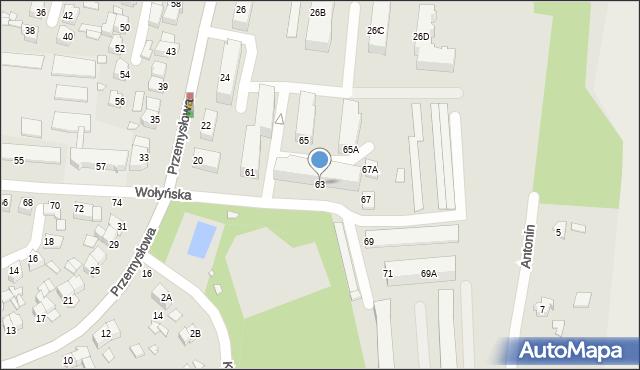 Chełm, Wołyńska, 63, mapa Chełma
