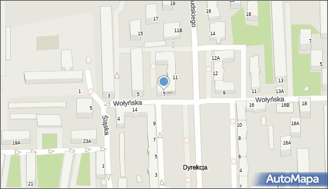 Chełm, Wołyńska, 7, mapa Chełma
