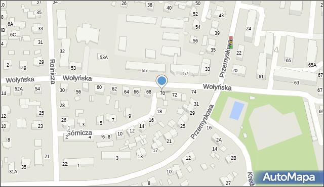 Chełm, Wołyńska, 70, mapa Chełma