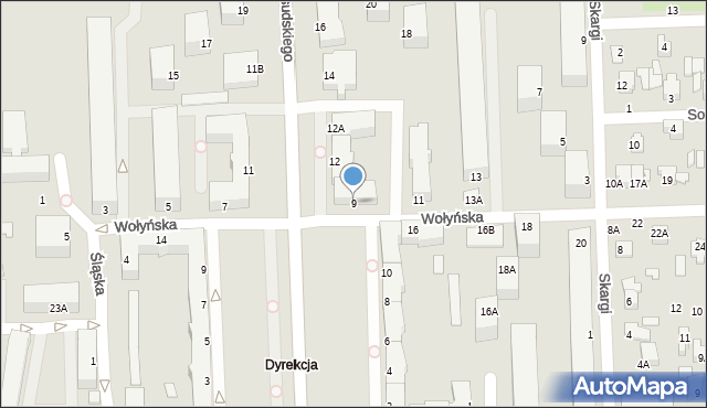 Chełm, Wołyńska, 9, mapa Chełma