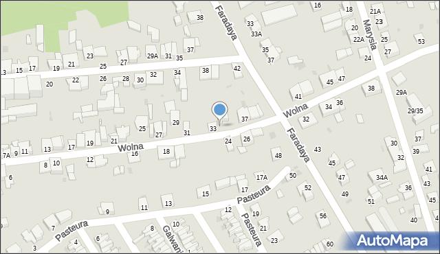 Częstochowa, Wolna, 35, mapa Częstochowy