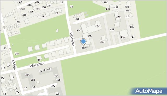 Dziwnówek, Wolności, 35A, mapa Dziwnówek