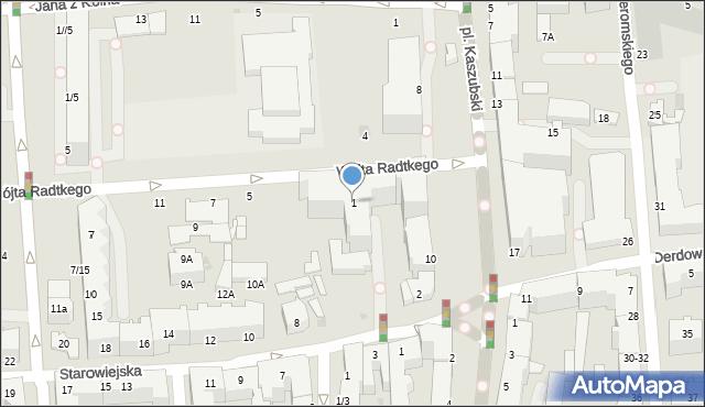 Gdynia, Wójta Radtkego, 1, mapa Gdyni