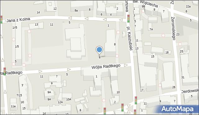 Gdynia, Wójta Radtkego, 4, mapa Gdyni