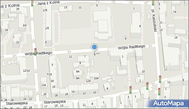 Gdynia, Wójta Radtkego, 5, mapa Gdyni