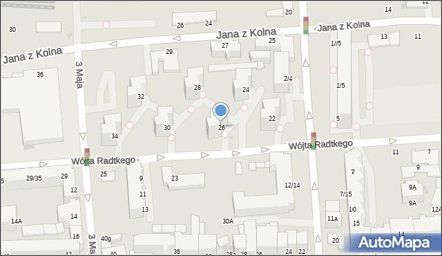 Gdynia, Wójta Radtkego, 26, mapa Gdyni
