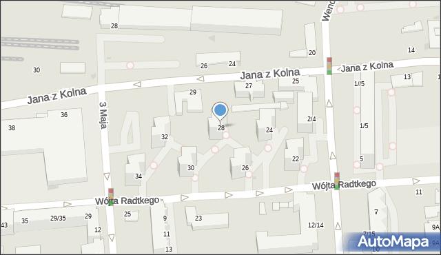 Gdynia, Wójta Radtkego, 28, mapa Gdyni