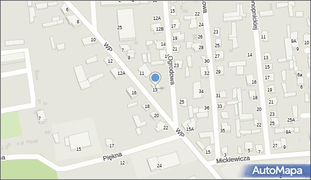 Jedwabne, Wojska Polskiego, 13, mapa Jedwabne