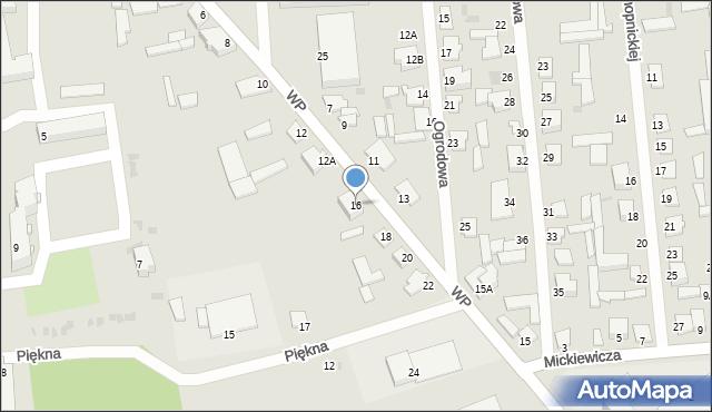 Jedwabne, Wojska Polskiego, 16, mapa Jedwabne