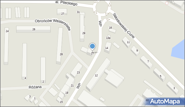 Kętrzyn, Wojska Polskiego, 27, mapa Kętrzyn