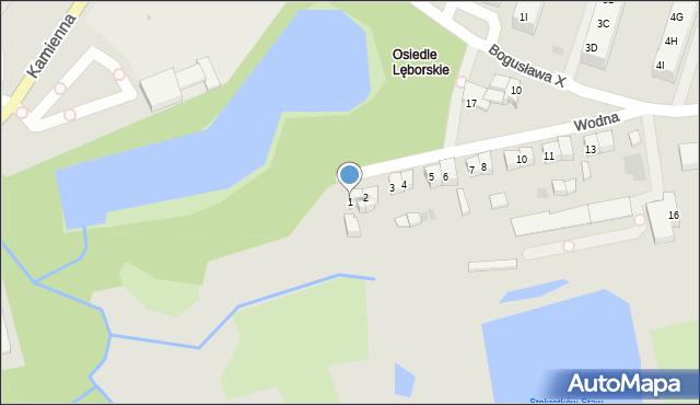 Kołobrzeg, Wodna, 1, mapa Kołobrzegu