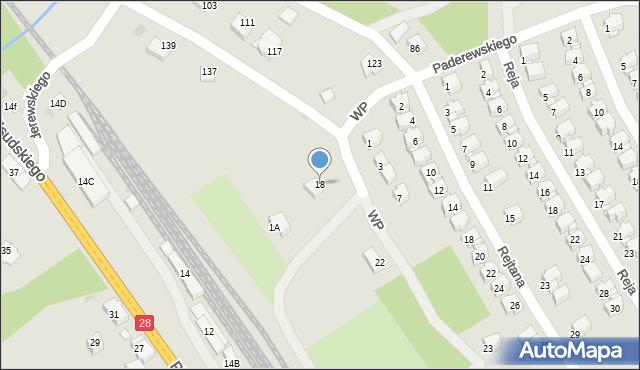 Limanowa, Wojska Polskiego, 18, mapa Limanowa