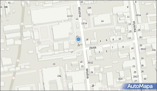 Łódź, Wodna, 15, mapa Łodzi