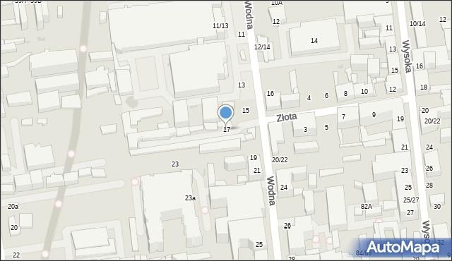 Łódź, Wodna, 17, mapa Łodzi