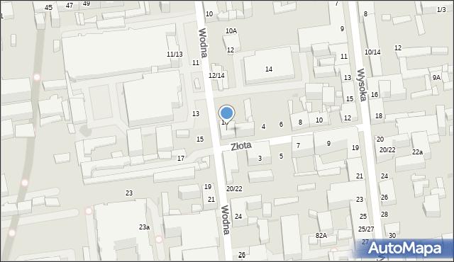Łódź, Wodna, 18, mapa Łodzi