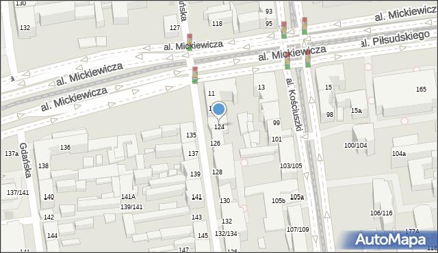 Łódź, Wólczańska, 124, mapa Łodzi