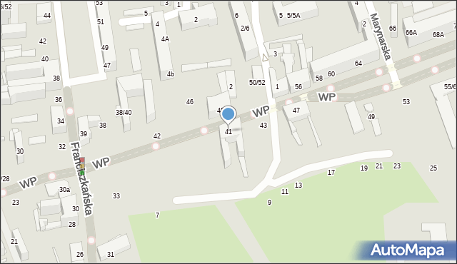 Łódź, Wojska Polskiego, 39, mapa Łodzi