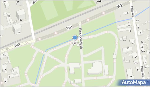 Łódź, Wojska Polskiego, 83, mapa Łodzi