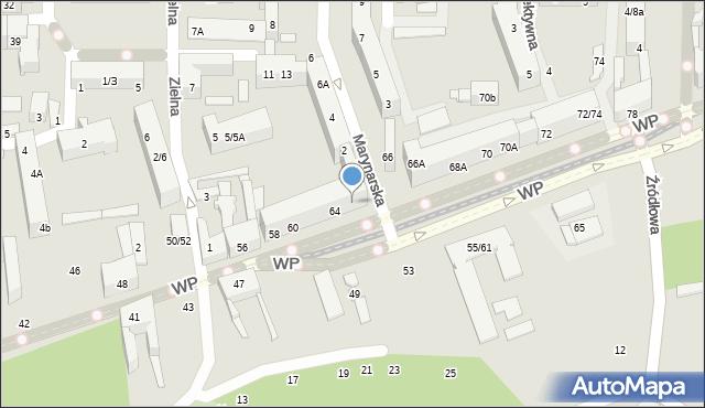 Łódź, Wojska Polskiego, 64A, mapa Łodzi